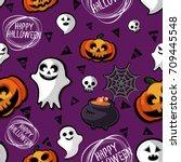 happy halloween | Shutterstock .eps vector #709445548