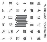 vector book icon on white... | Shutterstock .eps vector #709448176