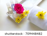 thai spa relax treatments and... | Shutterstock . vector #709448482