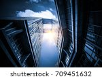 look up to the sky with... | Shutterstock . vector #709451632