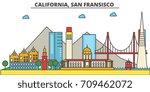 california  san francisco.city...   Shutterstock .eps vector #709462072