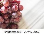 bunches of fresh ripe red... | Shutterstock . vector #709473052