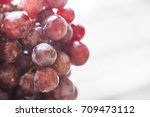 bunches of fresh ripe red... | Shutterstock . vector #709473112