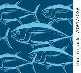Tunas Fish Symbol Composition...