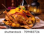 goose with red cabbage | Shutterstock . vector #709483726