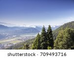areal view over lugano | Shutterstock . vector #709493716