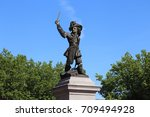 the historical statue of the... | Shutterstock . vector #709494928