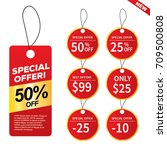 sale and special offer banner ... | Shutterstock .eps vector #709500808