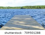 The Fishing Pier At The Lake In ...