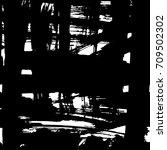hand made ink texture. grange... | Shutterstock .eps vector #709502302