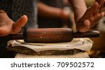 indian roti or indian flat... | Shutterstock . vector #709502572
