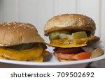 Two Vegetarian Cheeseburgers...