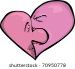 angry woman and scared man...   Shutterstock .eps vector #70950778