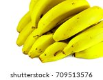 close up cavendish banana or... | Shutterstock . vector #709513576
