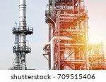 industrial zone the equipment... | Shutterstock . vector #709515406