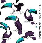 seamless pattern. cartoon...   Shutterstock .eps vector #709516318