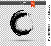 hand drawn circle shape. label  ... | Shutterstock .eps vector #709526206