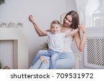 happy mother and child together | Shutterstock . vector #709531972