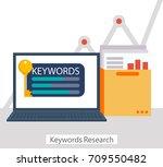 keywords research banner.... | Shutterstock .eps vector #709550482