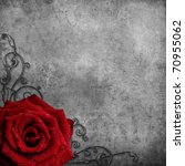 Grunge Background  With Red...