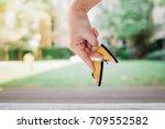woman hand finger walking with... | Shutterstock . vector #709552582