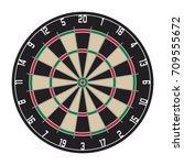dartboard with bulls eye for... | Shutterstock .eps vector #709555672