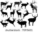 illustration with deer... | Shutterstock .eps vector #7095601