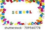 colored english letters | Shutterstock . vector #709560778