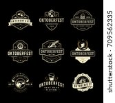 oktoberfest labels  badges and... | Shutterstock .eps vector #709562335