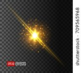 light flash with glittering... | Shutterstock .eps vector #709565968
