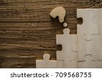 missing piece of the puzzle... | Shutterstock . vector #709568755