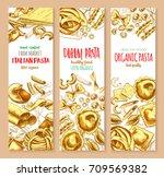 italian pasta banners for... | Shutterstock .eps vector #709569382