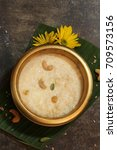 Small photo of Rice Pudding / Paal (Pal) Payasam served in Traditional Brass Vessel