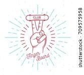 vector skateboarding logos or...   Shutterstock .eps vector #709575958