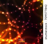 neon abstract background | Shutterstock .eps vector #709577842
