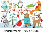 cute hand drawn wild animals   | Shutterstock .eps vector #709578886