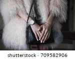 elegant outfit. close up of... | Shutterstock . vector #709582906