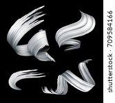 3d render  abstract brush... | Shutterstock . vector #709584166