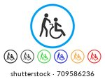 disabled person transportation... | Shutterstock .eps vector #709586236