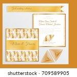 luxury wedding invitation... | Shutterstock .eps vector #709589905