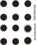 set of starburst  sunburst...   Shutterstock .eps vector #709590796