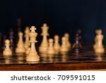 chess photographed on a chess... | Shutterstock . vector #709591015