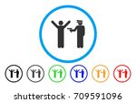 police arrest rounded icon.... | Shutterstock .eps vector #709591096