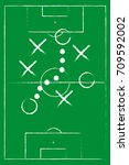 football strategy signs vector... | Shutterstock .eps vector #709592002
