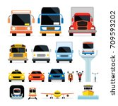 vehicles  cars and... | Shutterstock .eps vector #709593202