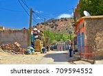 morocco  2015   street life in... | Shutterstock . vector #709594552