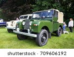 BRODIE, SCOTLAND - August 13 2017: Classic Land Rover Series 1  at a vintage rally - stock photo