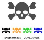 Skull Crossbones Vector Icon....