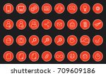 vector icons web and mobile.... | Shutterstock .eps vector #709609186