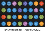 vector icons web and mobile.... | Shutterstock .eps vector #709609222